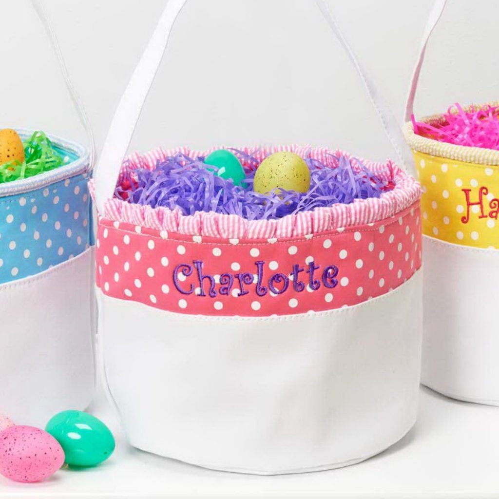 Personalized Soft and Light Easter Basket - Bright Pink