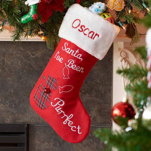 Personalized Purrfect Cat Christmas Stocking