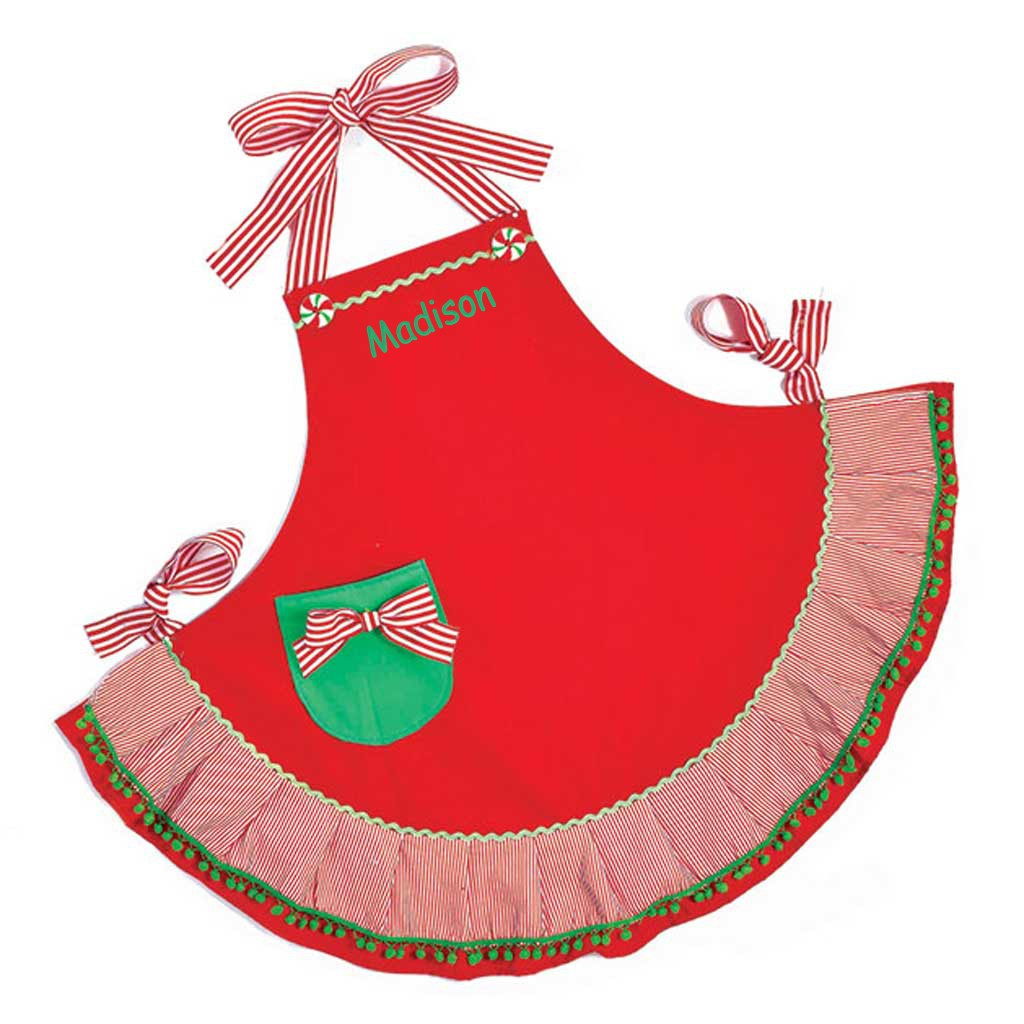 personalized christmas apron adult size - Christmas Apron