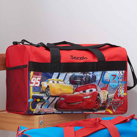 Personalized Cars Kids Travel Duffel Bag - 18
