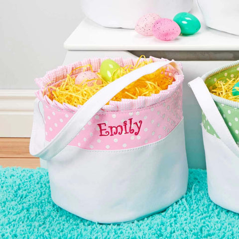 Personalized Soft and Light Easter Basket - Baby Pink