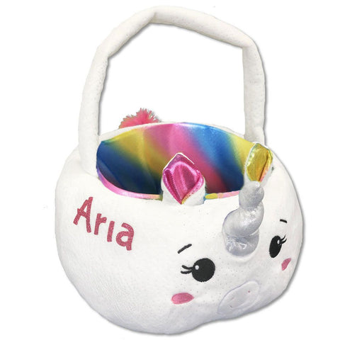 Personalized Unicorn Plush Easter Basket