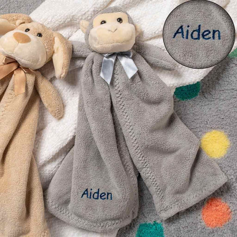 Personalized Plush Baby Cuddler - 17 inch - Monkey