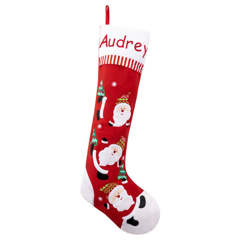 Personalized Dibsies Giant Tumbling Santa Stocking