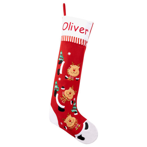 Personalized Dibsies Giant Tumbling Reindeer Stocking
