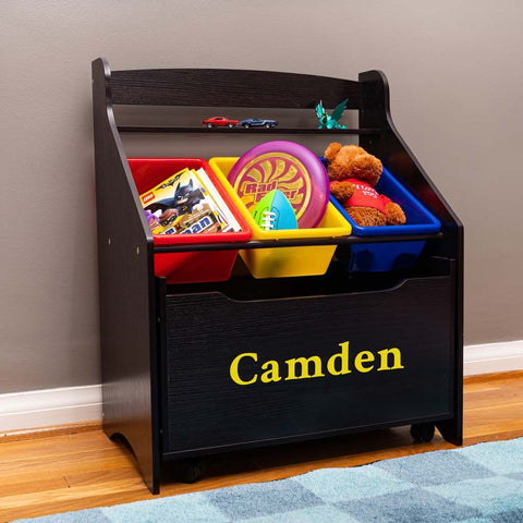 Personalized Toy Storage with Primary Color Bins