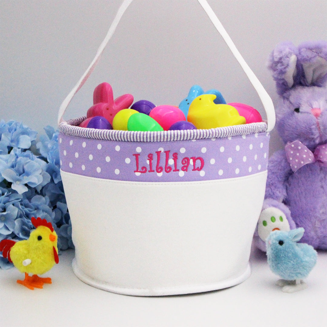 Personalized Soft and Light Easter Basket - Purple