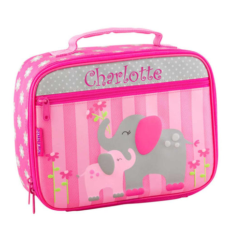 Personalized Classic Pink Elephants Lunch Box