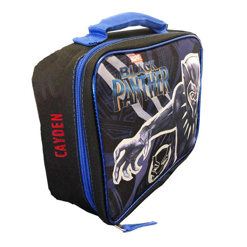 Personalized Black Panther Lunch Box
