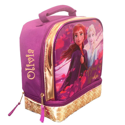 Personalized Frozen 2 Dual Compartment Lunch Box - A Spirit of Wonder