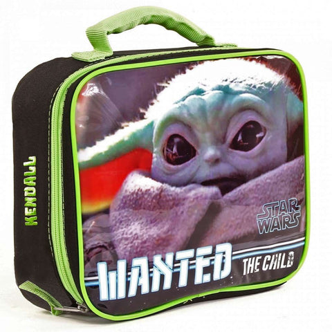 Personalized Mandalorian Baby Yoda Lunch Box