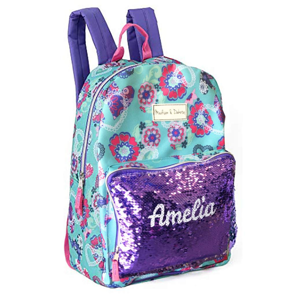 Personalized Magic Reversible Sequins Backpack - Heart