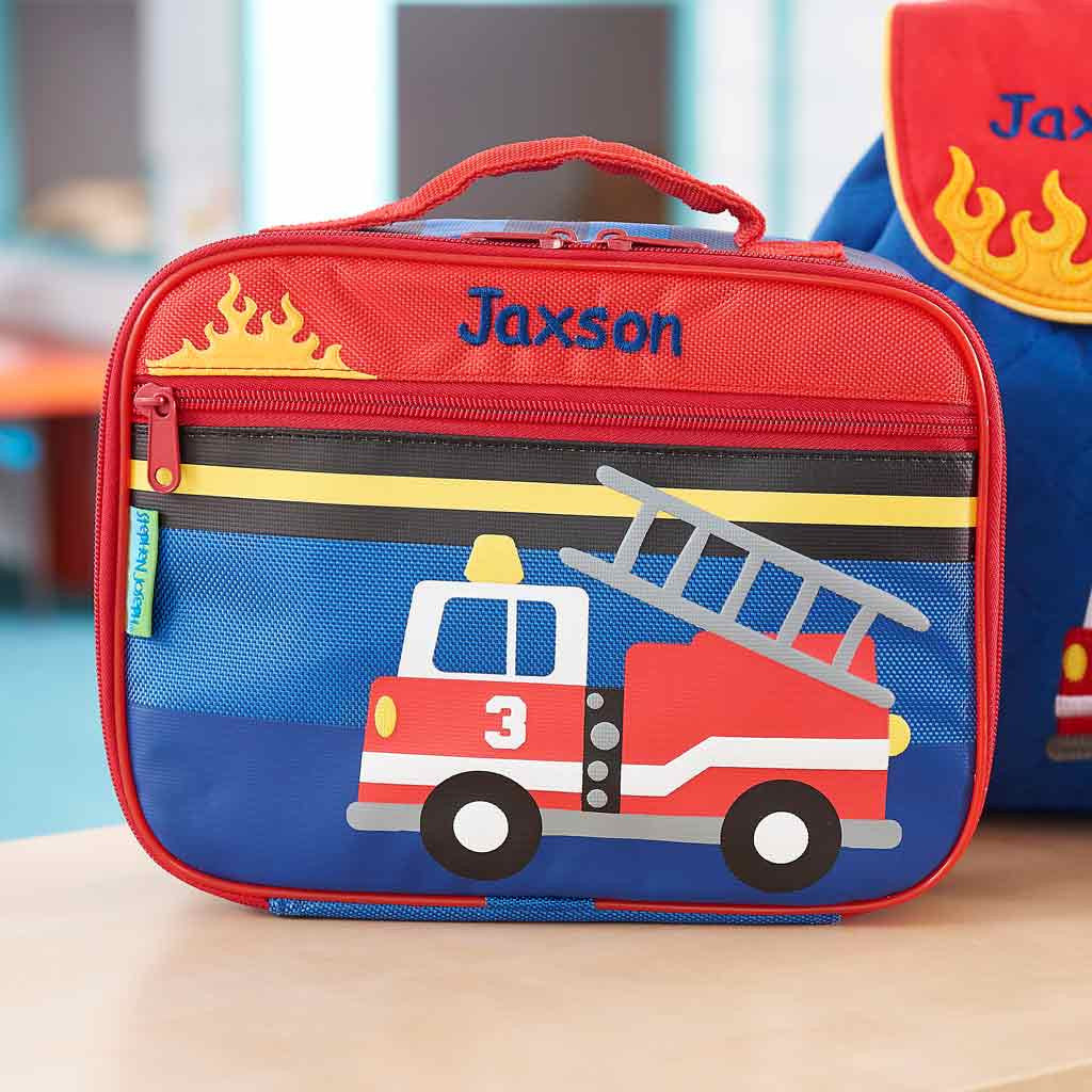 Personalized Classic Fire Truck Lunch Box