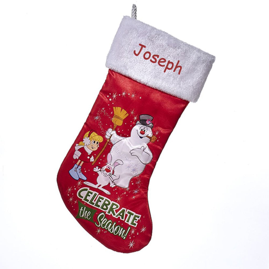 Personalized Frosty Christmas Stocking