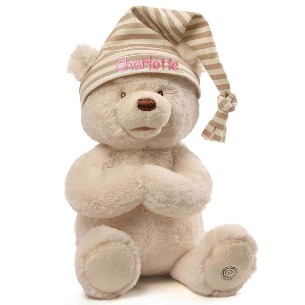 Personalized Animated Goodnight Prayer Bear