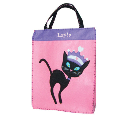 Personalized Princess Black Cat Trick or Treat Bag - XL