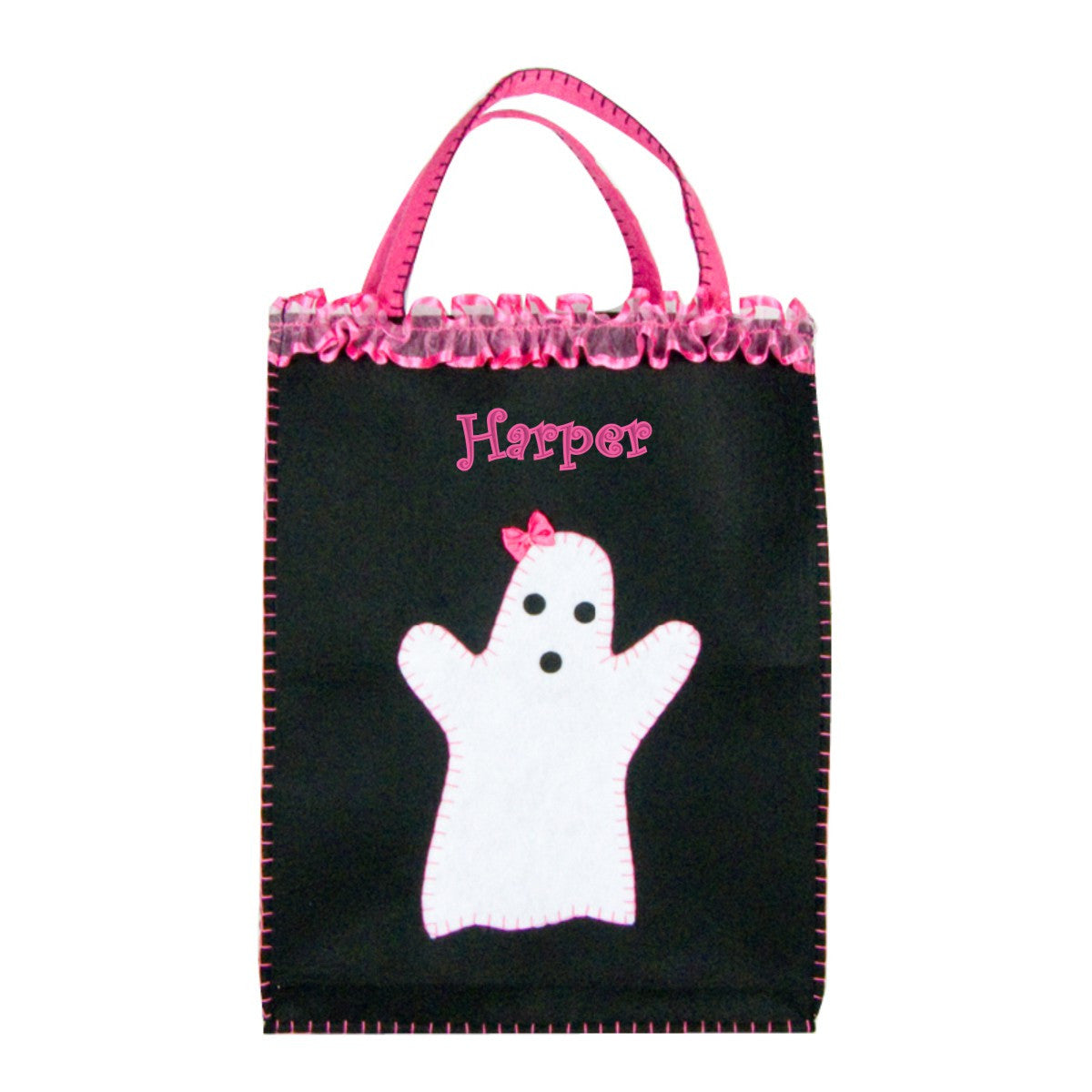 Personalized Classic Pink Friendly Ghost Trick Or Treat