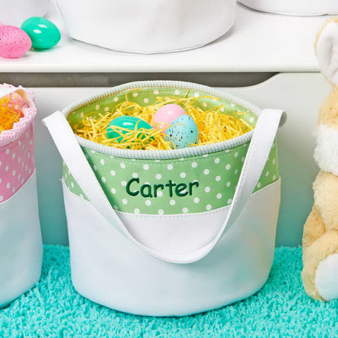 Personalized Soft and Light Easter Basket - Green