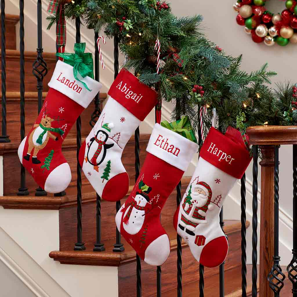 personalized holiday christmas stocking - Large Christmas Stockings