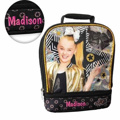 Personalized JoJo Siwa Double Compartment Insulated Lunch Bag