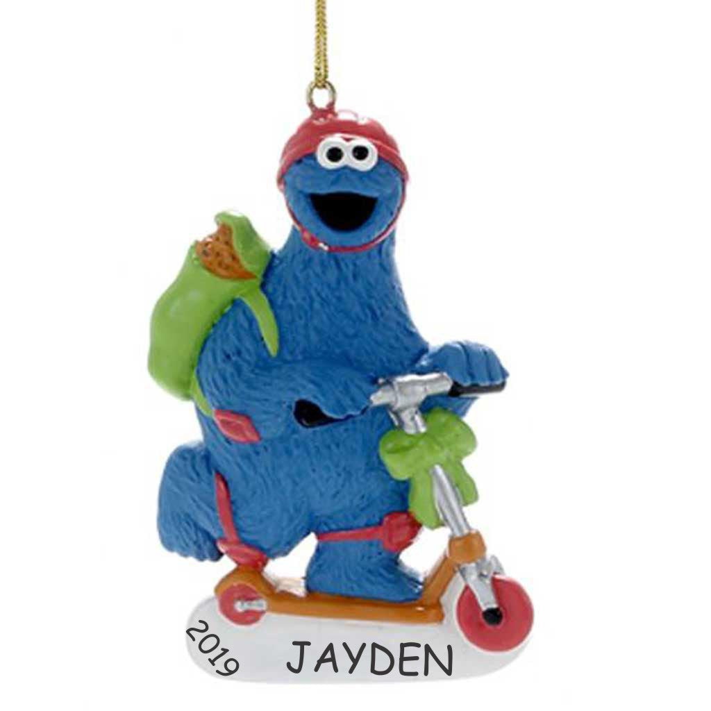 Personalized Sesame Street Ornament - Cookie Monster