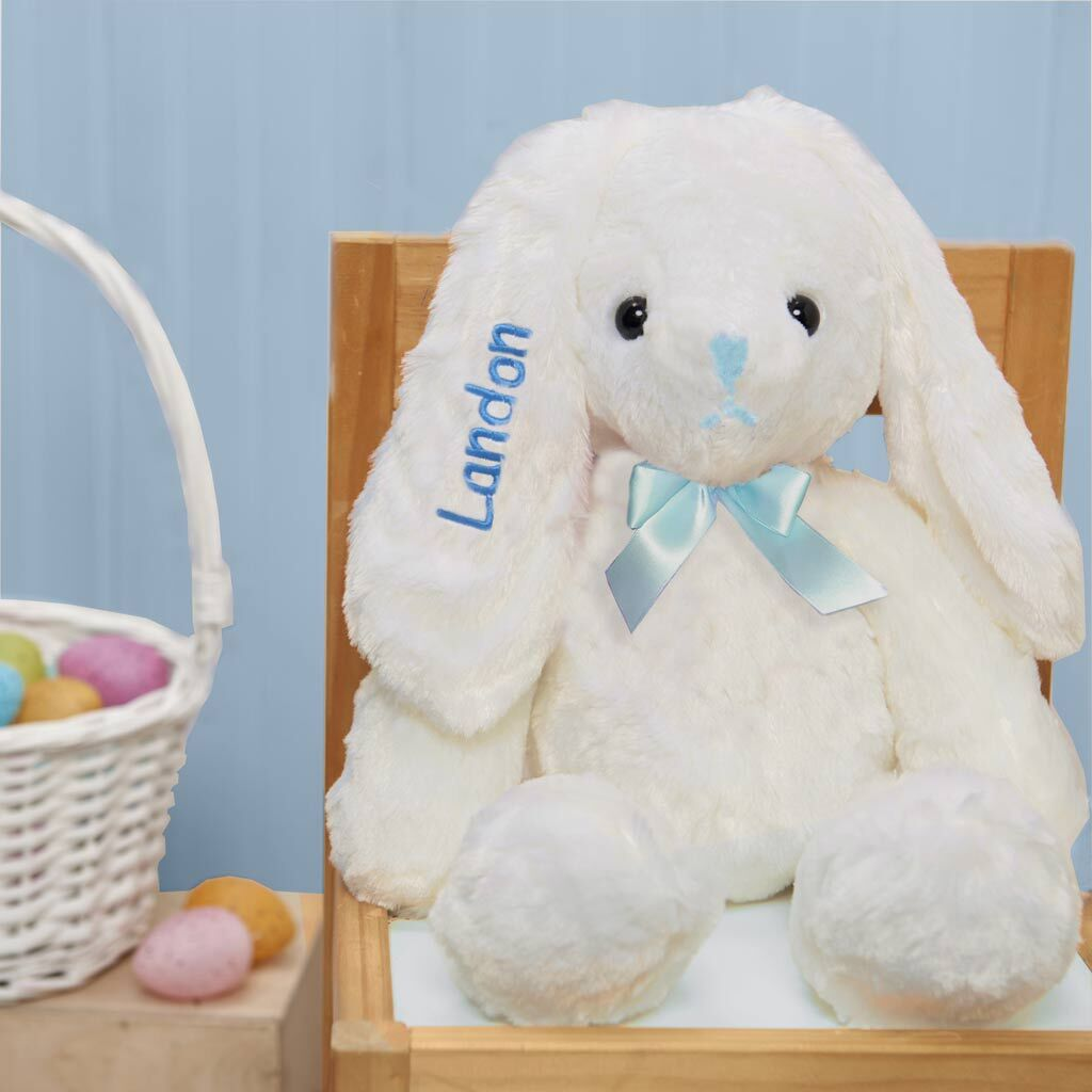 "Personalized Dibsies Hoppity Floppity Bunny 18"" - Blue"