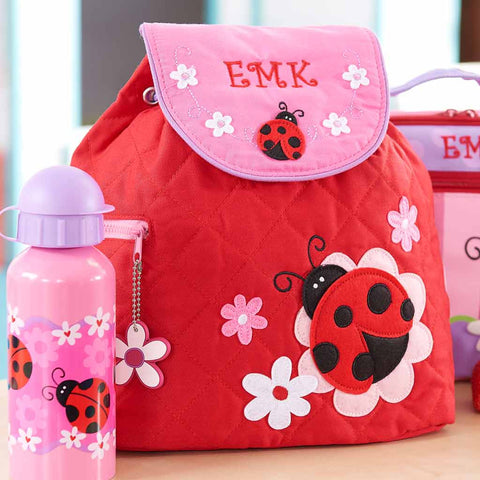Personalized Red Friendly Ladybug Backpack