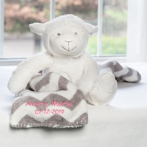 Personalized Dibsies Baby Lamb & Blanket Set
