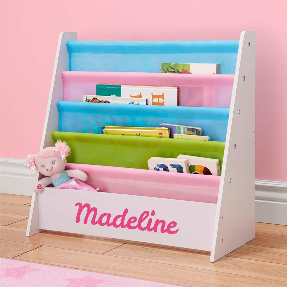 sling cool pastel kids stuff personalized and baby bookshelf kidkraft products