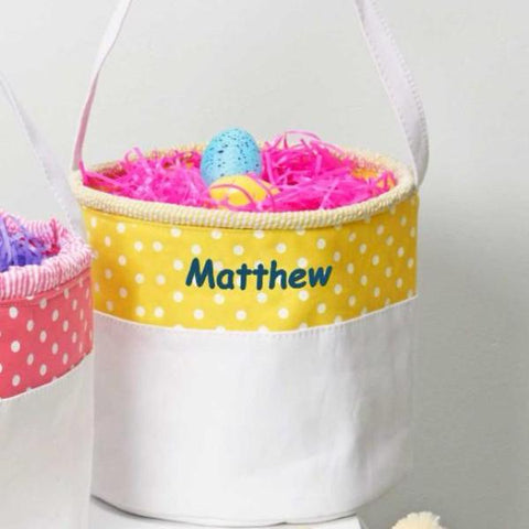 Personalized Soft and Light Easter Basket - Yellow
