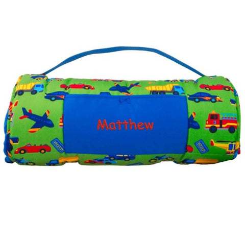 Personalized Cars, Trucks, Planes, & Trains Nap Mat