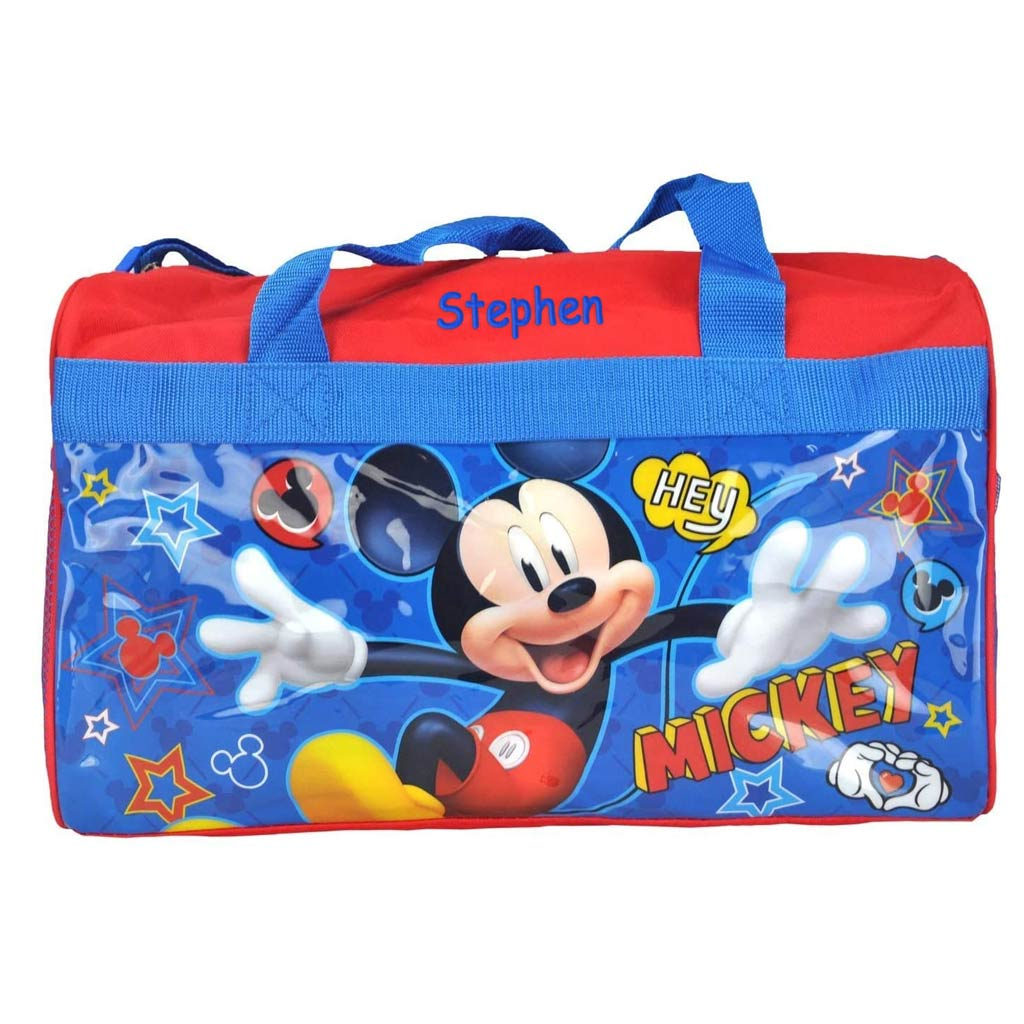Personalized Mickey Mouse Kids Travel Duffel Bag - 18""