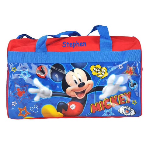 Personalized Mickey Mouse Kids Travel Duffel Bag - 18