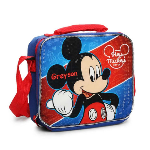 Personalized Mickey Mouse Lunch Bag with Strap