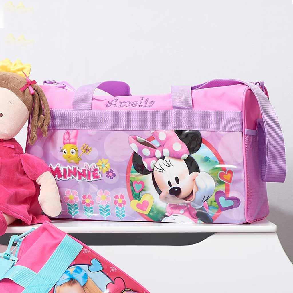 Personalized Minnie Mouse Kids Travel Duffel Bag - 18""