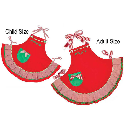 Personalized Mommy & Me Christmas Apron Set