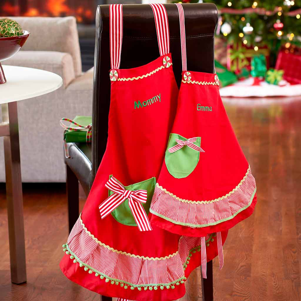 Personalized Christmas Apron Adult Size Dibsies