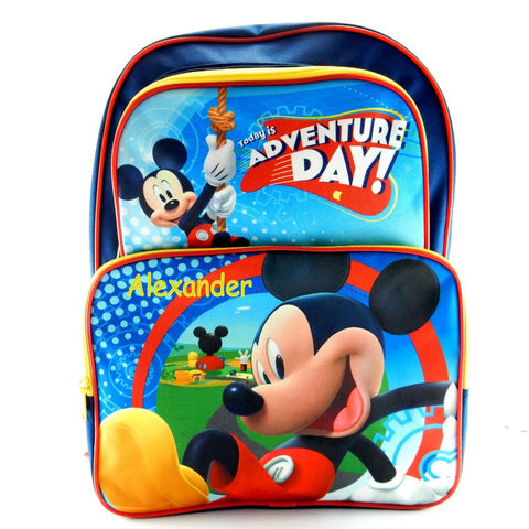 Personalized Mickey Mouse Character Backpack - 16 Inch