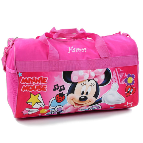 Personalized Minnie Mouse Kids Travel Duffel Bag - 18