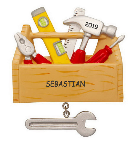Personalized Tool Chest Kids Christmas Ornament