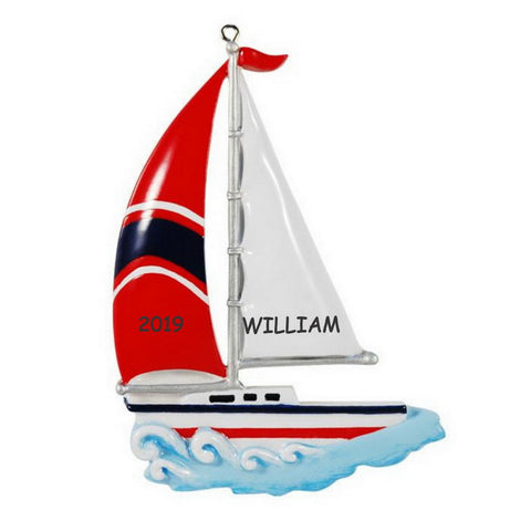 Personalized Sailing Sports Christmas Ornament