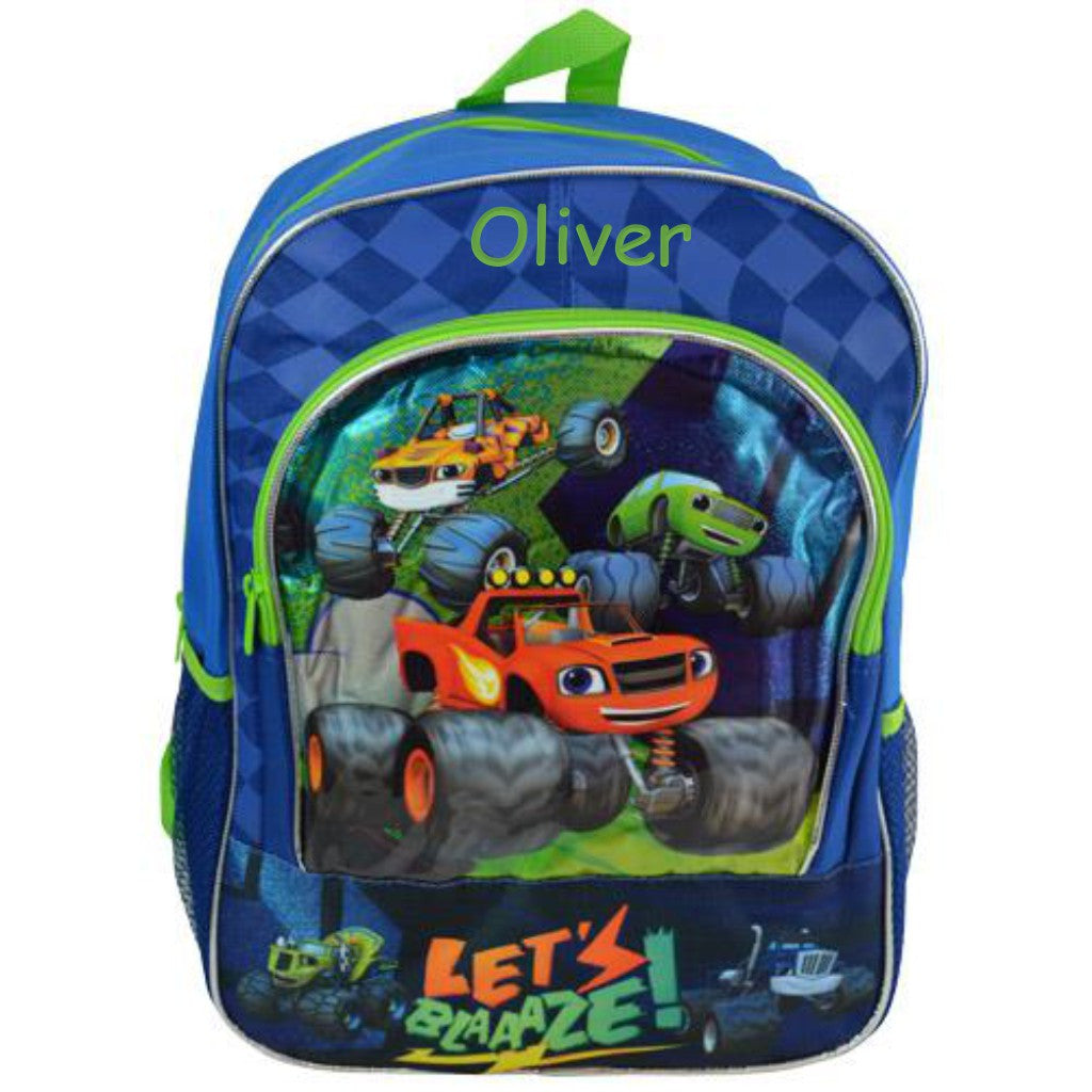 Personalized Blaze and the Monster Machines Character Backpack - 16 Inch
