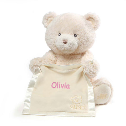 Personalized Gund Peek a Boo Bear - Cream