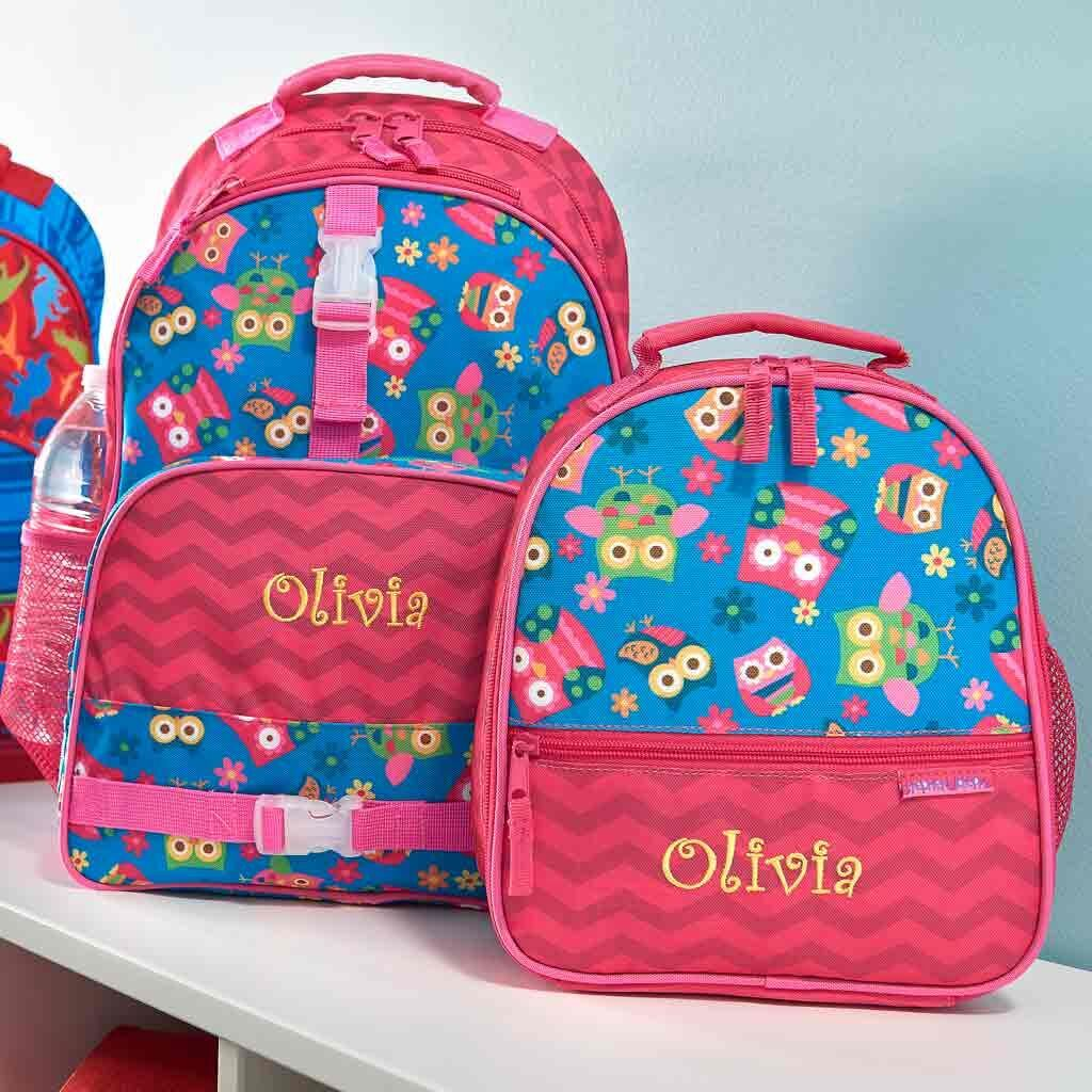 Personalized Owl Trendsetter Backpack & Lunch Box Combo