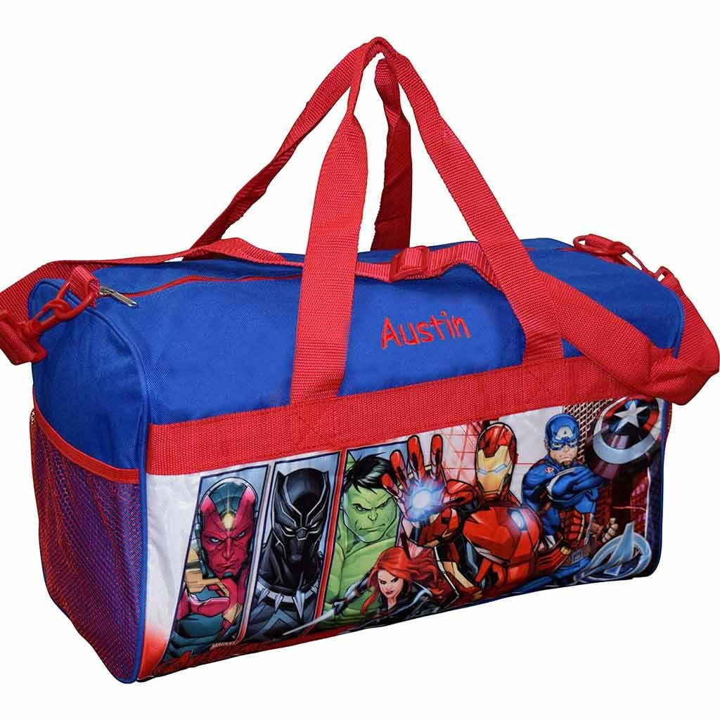 Personalized Avengers Kids Travel Duffel Bag - 18""