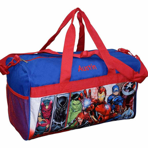 Personalized Avengers Kids Travel Duffel Bag - 18