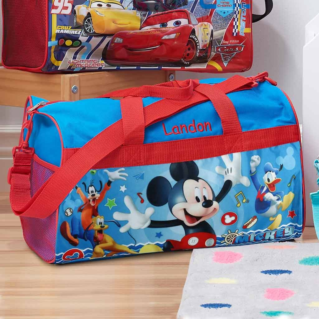 Personalized Mickey Mouse Travel Duffel Bag - 18""