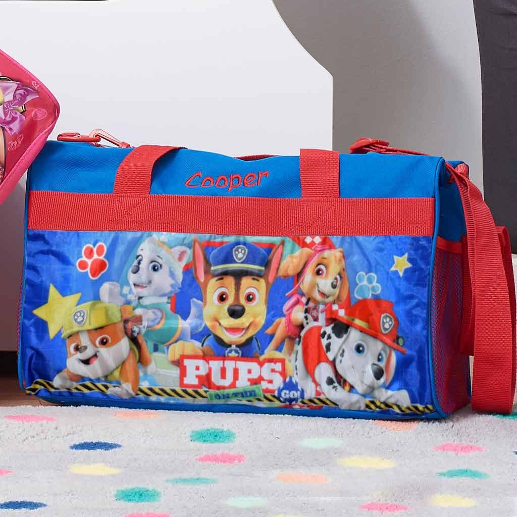 "Personalized Paw Patrol Kids Travel Duffel Bag - 18"" - Boys"