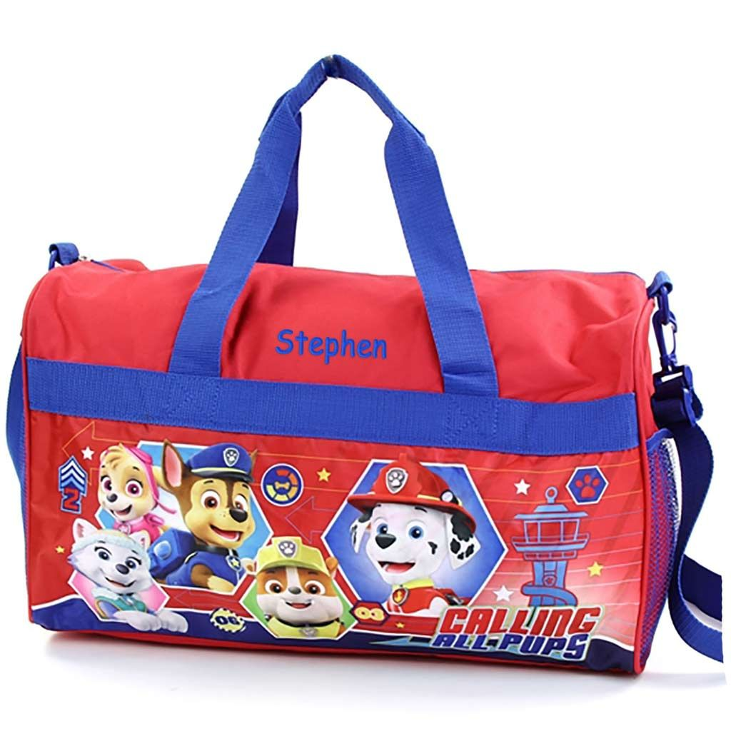 Personalized Paw Patrol Duffel Bag - Red - 18""