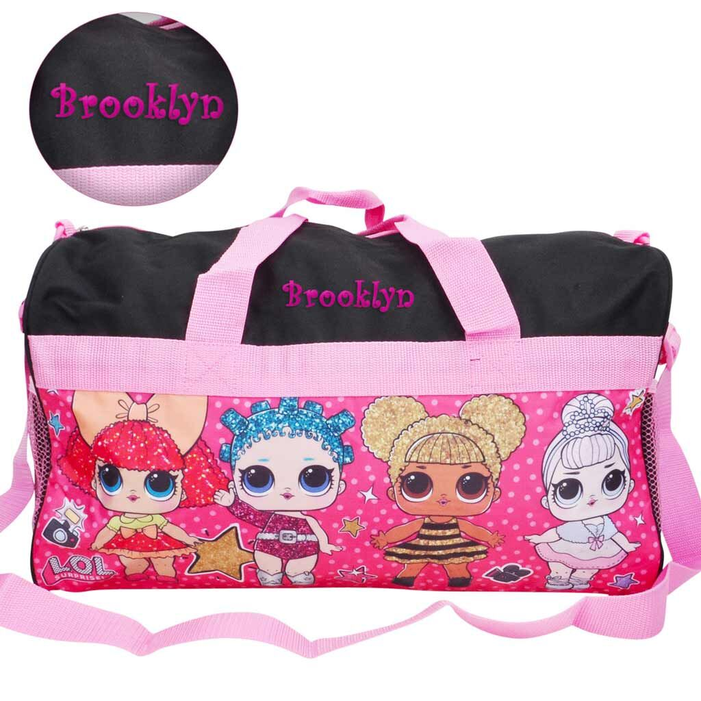 "Personalized LOL Surprise! Duffel Bag - 18"" - Pink and Black"